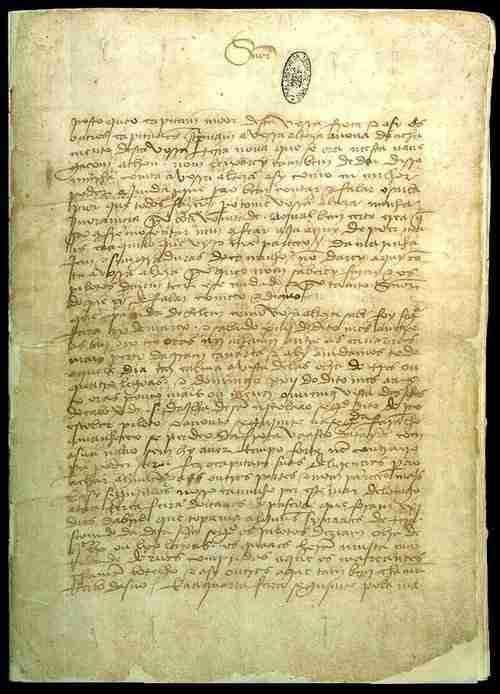 Original carta de Pero Vaz de Caminha ao Rei D Manuel I, Torre do Tombo, Lisboa