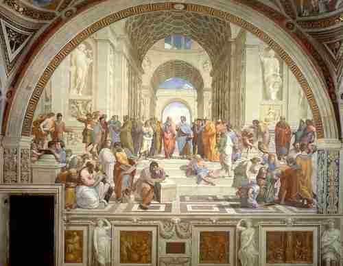 Escola Atenas, números naturais, números racionais, números inteiros, números reais