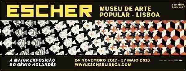 Trabalhos de Escher. Museu de Arte Popular, Exposição Escher em Lisboa.