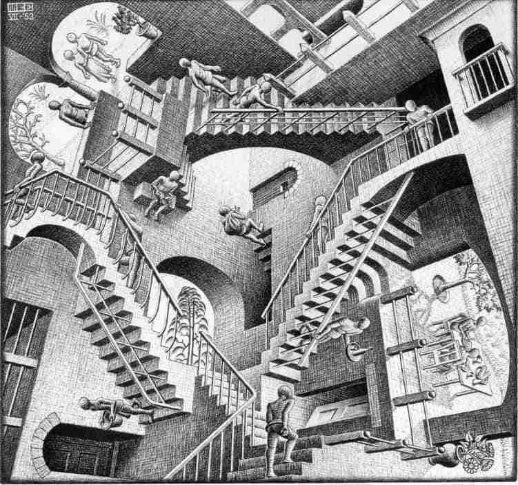 Relatividade, litografia, 1953.