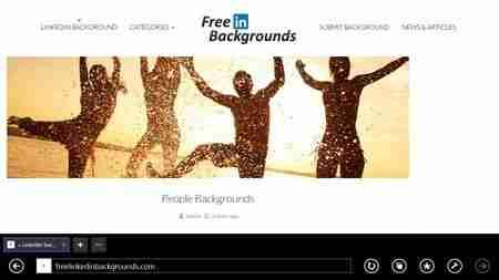 Outro site de imagens gratuitas. Imagem de fundo para o Linkedin
