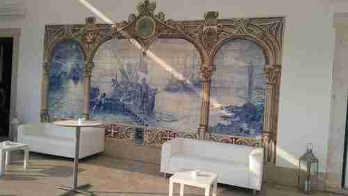 Locais a visitar. Painel de Azulejos descoberta de Vera Cruz