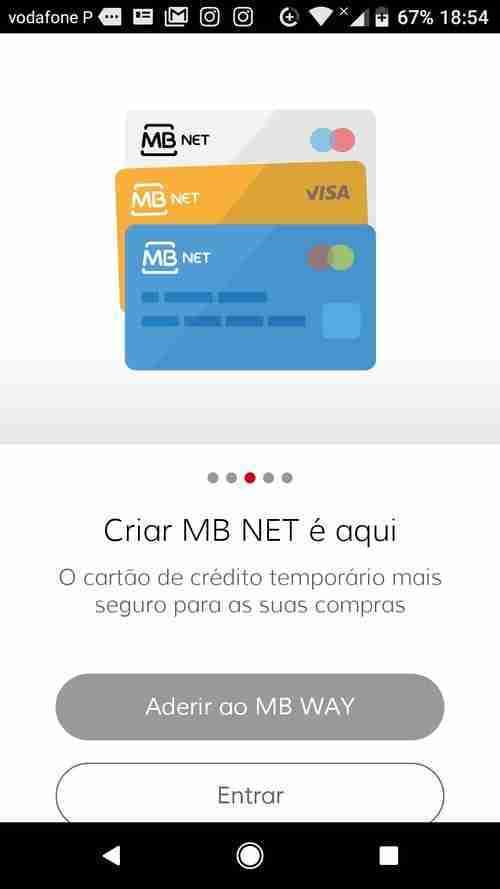 Criar MB NET através do MB WAY