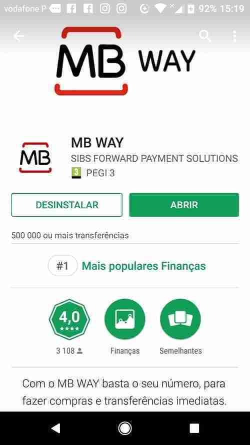 Instalar a Aplicação MB WAY