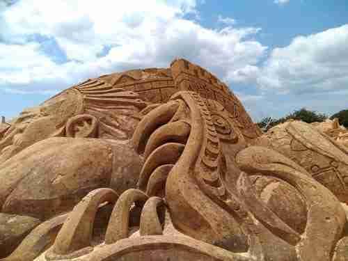 A cidade de areia e a Arte Maia