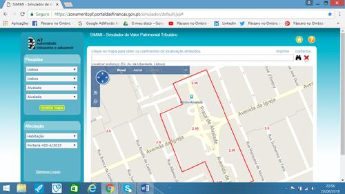 Coeficiente de localização, mapa por Rua