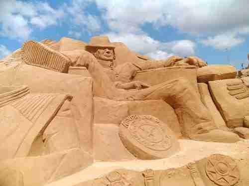 Estátua de areia de Michael Jackson