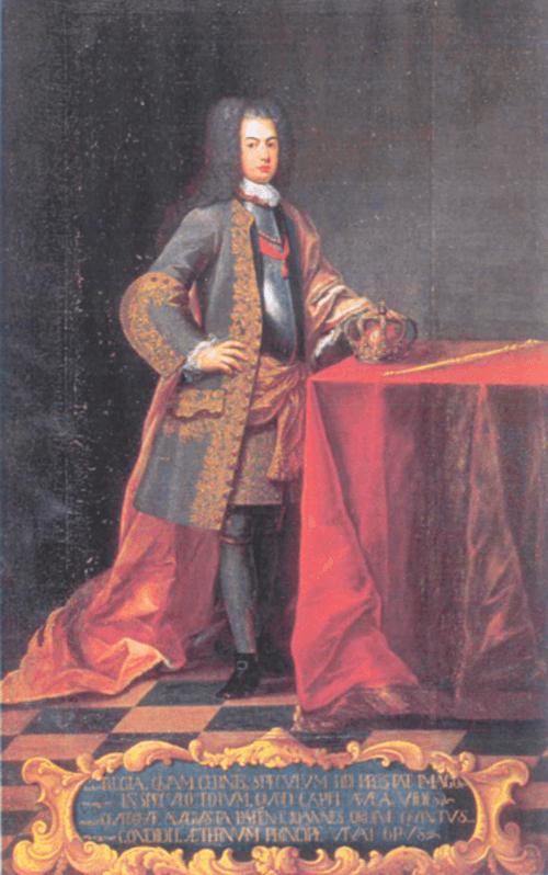 Rei D. João V Biblioteca Joanina (1725) - Domenico Duprà. Livros proibidos pela Igreja. Fonte: CC
