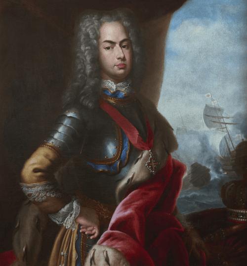 Palácio Nacional de Mafra. D. João V e a Batalha do Cabo Matapão_(1717) Domenico Duprà_(MNAA)